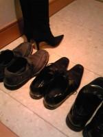 ぴかぴかの靴たち